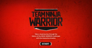 """Team Ninja Warrior"" Timeline Microsite"
