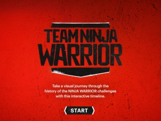 """Team Ninja Warrior"" TimelineMicrosite"